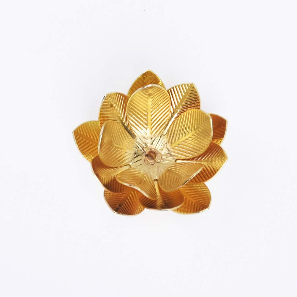 10 unidades por lote accesorios de metal Suministro de flores de lat/ón de 26 mm lat/ón con dise/ño de flores colgantes de lat/ón