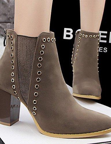 De Zapatos La us5 Cn39 Black Tacón Negro Xzz us8 Casual Eu36 Botas Hueso Mujer Bermellón Marrón Terciopelo Eu39 Robusto Caqui Moda Cn35 Brown Uk3 5 A Uk6 5 Exterior 0qwd5w