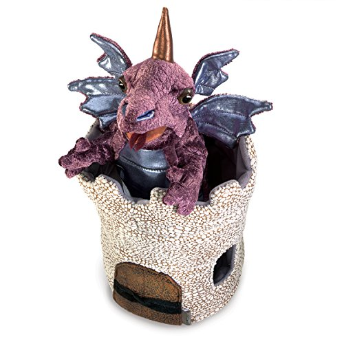 Folkmanis Dragon in Turret Hand Puppet ()