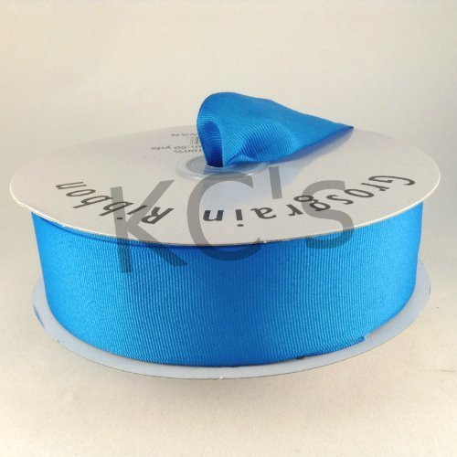 1.5 Neon Blue Grosgrain Ribbon 50 Yards Spool Solid Color FREE SHIPPING by KCRAFT-R-US by KCRAFT-R-US (Image #1)