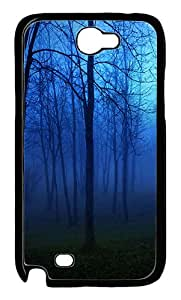 Night in the forest Custom Samsung Galaxy Note II N7100 Case Cover ¨C Polycarbonate ¨CBlack