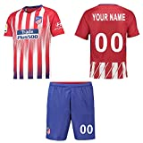 Panicy 2018-2019 Personalised Atlético Madrid Home Football Shirt Custom Soccer Jersey Personalised Team Name Player Names Numbers(Kids)