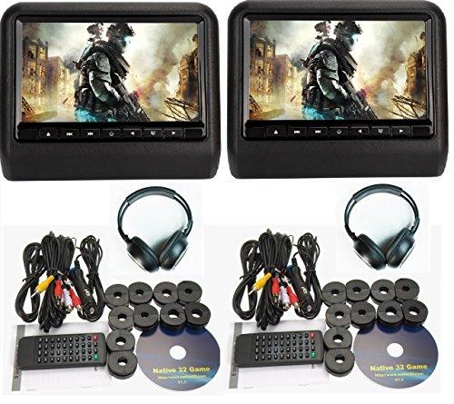 dual head restraint dvd monitors - 4