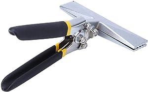 Garosa 6in Seaming Pliers Straight Metal Former Bender Hand Bending Tool Multifunction Folding Pliers 1.4in Jaw Side Width Bender Hand Tool for Bending and Flattening