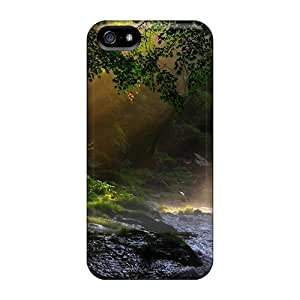 High-quality Durable Protection Case For Iphone 5/5s(lighted Forest Stream)
