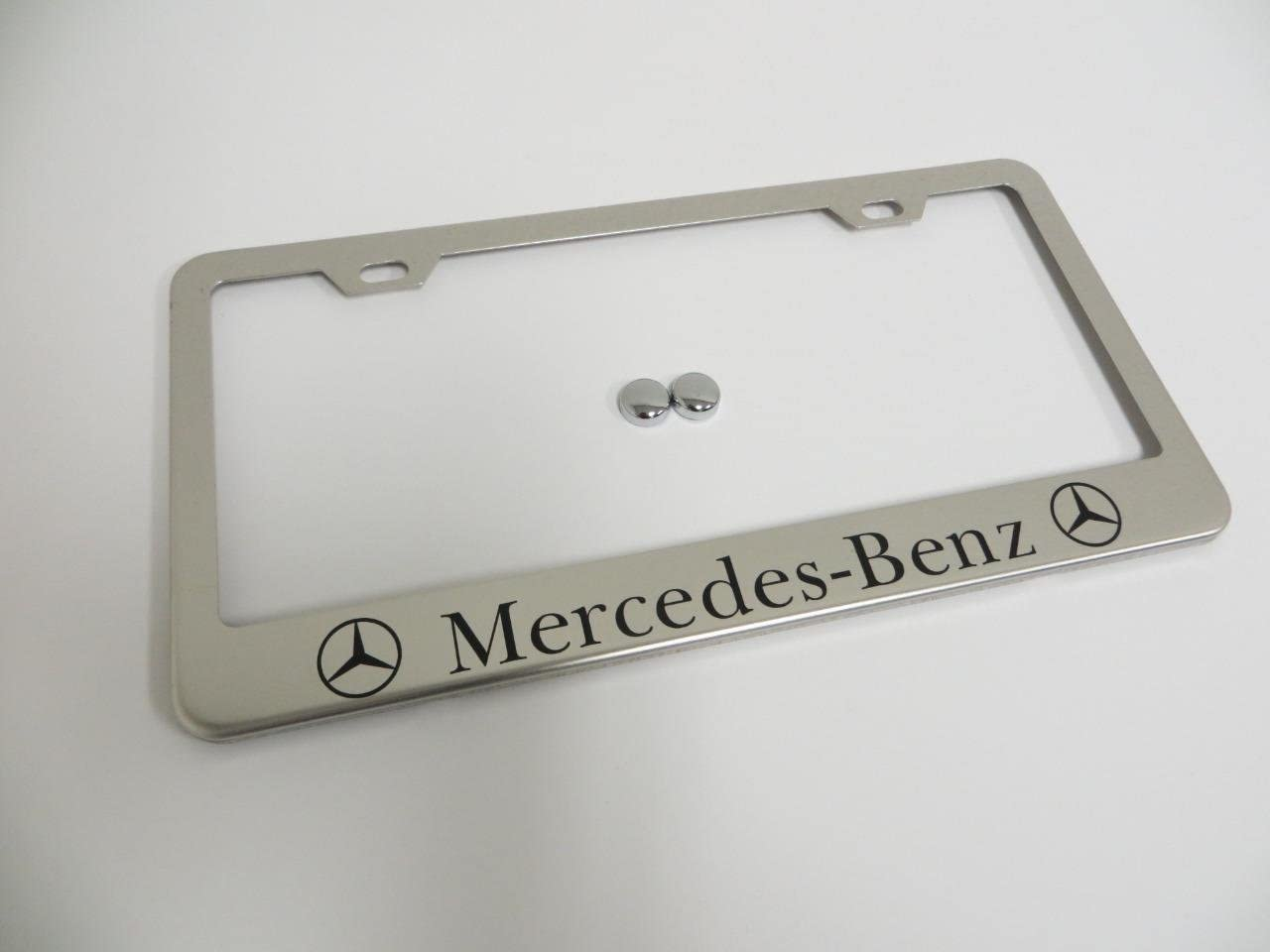 STAINLESS STEEL CHROME Polished Metal License Plate Frame 2 MERCEDES-BENZ