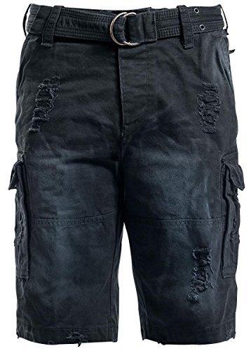 Brandit Shell Valley Heavy Vintage Shorts Black Size XXL