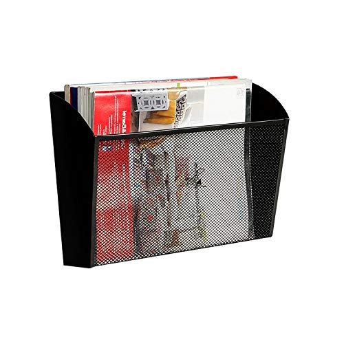 - DESIGNA Mesh Wall File Holder Hanging Letter Pocket Organizer, Black
