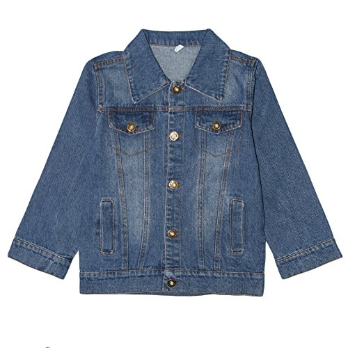 Aulase Denim Jackets Girl Denim Jackets Classic Basic Button Down Coat Girls' Outwear 6-7Y by Aulase (Image #3)