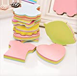 MorningRising Colorful Sticky Notes Post-it Notes In 18 Different Shapes, Bundle Pack - 18 Pads 100 Sheets Per Pads (1800 Sheets!)