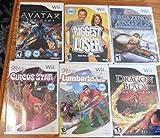 Lot of 6 Wii Games Dragon Blade Blazing Angels Avatar Lumberjacks Circus Star ++