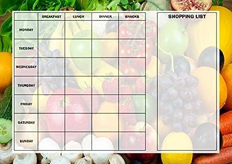 Dieta Settimanale Equilibrata : Pianificatore dieta con i menu settimanali e tabella frutta e