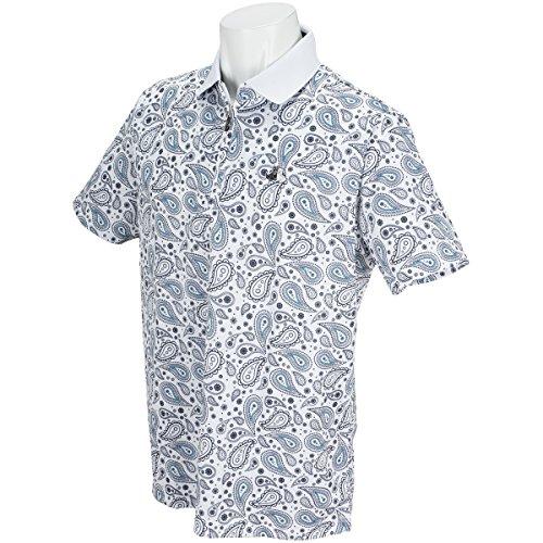 (ブラックアンドホワイト) Black&White SPORT 半袖ポロシャツ メンズ B9718GSXH UVカット 半袖シャツ L ホワイト