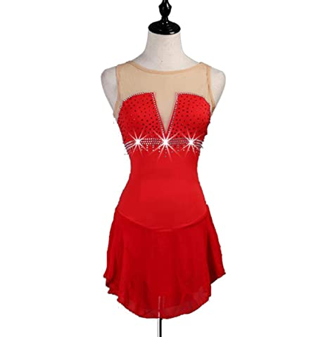 Vestido de Patinaje Artístico Faldas de Patinaje Elegante Simple ...