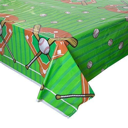 Baseball Plastic Tablecloth, 84