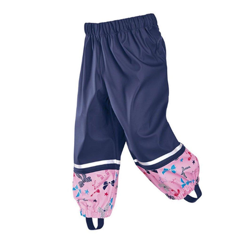 Swallowuk Moda Bambino Ragazze Impermeabile Pantaloni di Pioggia (86/92, Rose) Darrin