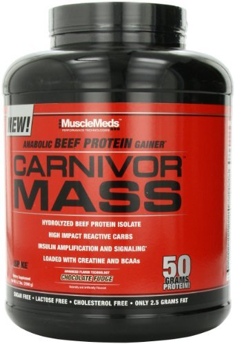 - MuscleMeds Carnivor Mass Chocolate Fudge Powder 2.5Kg by MuscleMeds