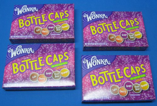 Wonka Bottle Cap Candy Theater Box Size 4 Boxes -