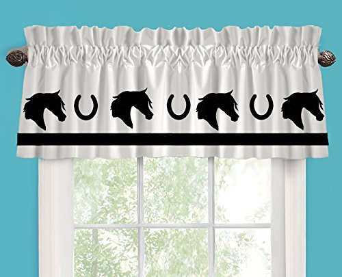 Arab Arabian Horse Horseshoes Horse Lover Window Valance / Window Treatment - In Your Choice of Colors - Custom Made