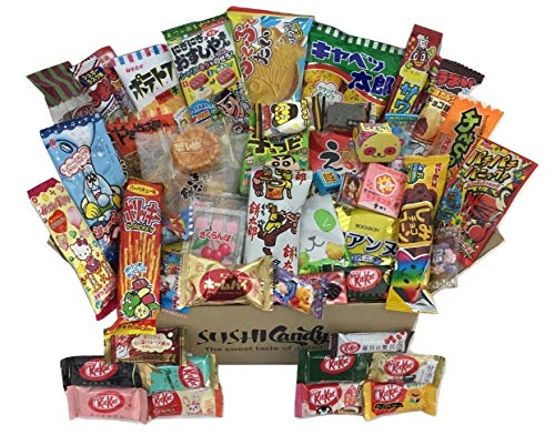 50 Japanese Candy & Snack POPIN COOKIN box set, big Japanese kitkat assortment (10 pieces) and other popular sweets -