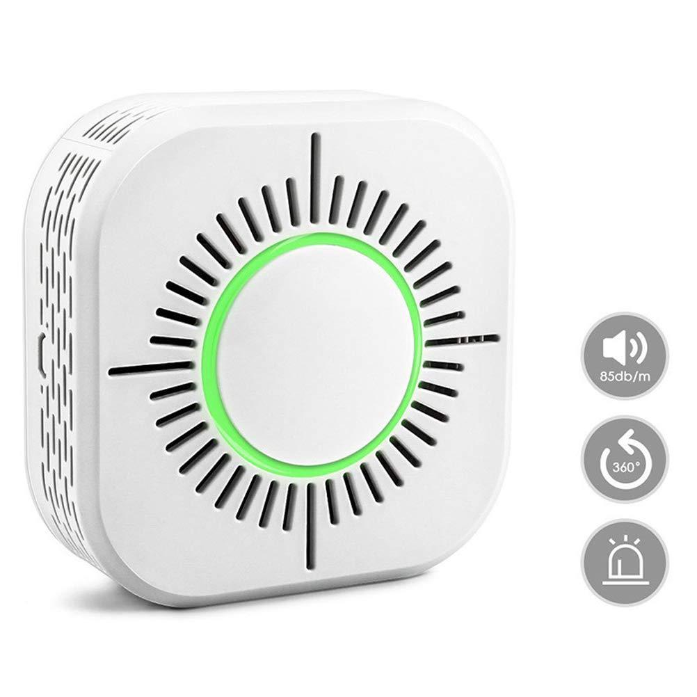 Naugust Detector de Humo 433MHz Detector de Humo de Alarma de Humo de Alta sensibilidad para Oficina dom/éstica