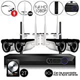 CAMVIEW Wireless Security Home Surveillance System 8CH 1080P WiFi NVR Kits + 4Pcs 2.0MP Wireless IP CCTV Cameras, Audio-in Plug, 65FT Night Vision, Half-Stream, 2TB HDD Pre-Installed For Sale