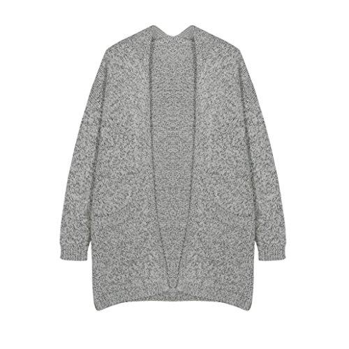 Winwintom Womens Lady Casual Pull en tricot à manches Manteau Veste Cardigan