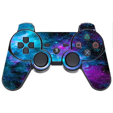 Decal Sticker Nebula Galaxy Space Design Pattern Print PS3 Dual Shock Wireless Controller Vinyl Decal Sticker Skin by Trendy - Mail Time Delivery Domestic