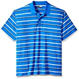 Callaway Men's Golf Performance Auto Stripe Short Sleeve Polo Shirt, Magnetic Blue, 2X