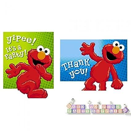 Amazon Com Hooray For Elmo Invitations And Thank You Notes Toys