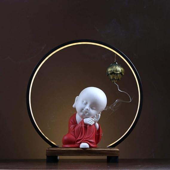 部屋ホームオフィス、バック香炉ベルガモットアロマセラピー炉入口テーブルの装飾を生きて香炉クリエイティブ禅ベゼルの装飾品,バルクモンク+ベゼルスタイルの装飾品