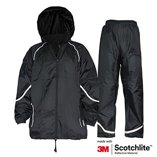 Salzmann Waterproof Rainsuit With 3M Scotchlite Reflective Material