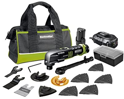 Rockwell RK2522K2 Sonicrafter Cordless Oscillating Tool with Universal Fit System, 27-Piece