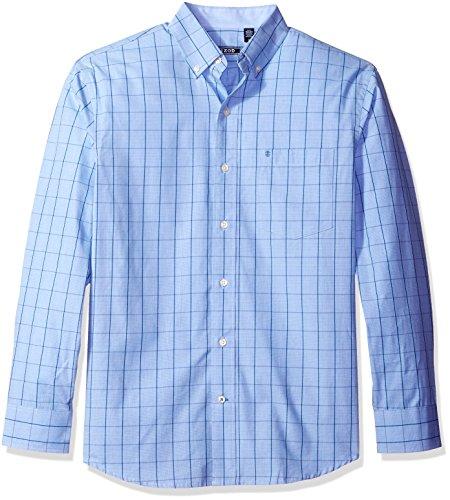 - IZOD Men's Premium Performance Natural Stretch Windowpane Long Sleeve Shirt