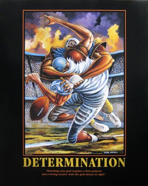 Determination Football Motivational Sports Poster by Ernie Barnes
