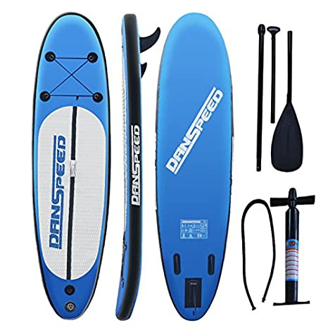 SolarNovo Tabla de Paddle Surf Board Inflable, Set Aqua de Tabla de Sup Hinchable de 305 x 75 x 15cm, con Inflador, Kit de Reparación, hasta 140 Kg: ...
