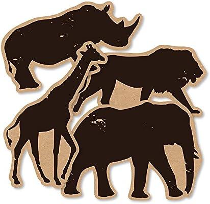 Amazon Com Wild Safari Giraffe Elephant Lion And Rhino