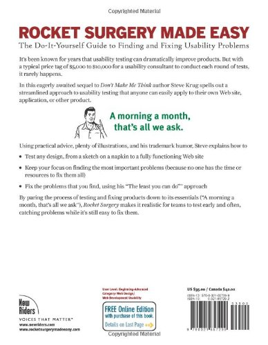 Rocket surgery made easy the do it yourself guide to finding and rocket surgery made easy the do it yourself guide to finding and fixing usability problems steve krug 9780321657299 books amazon solutioingenieria Image collections