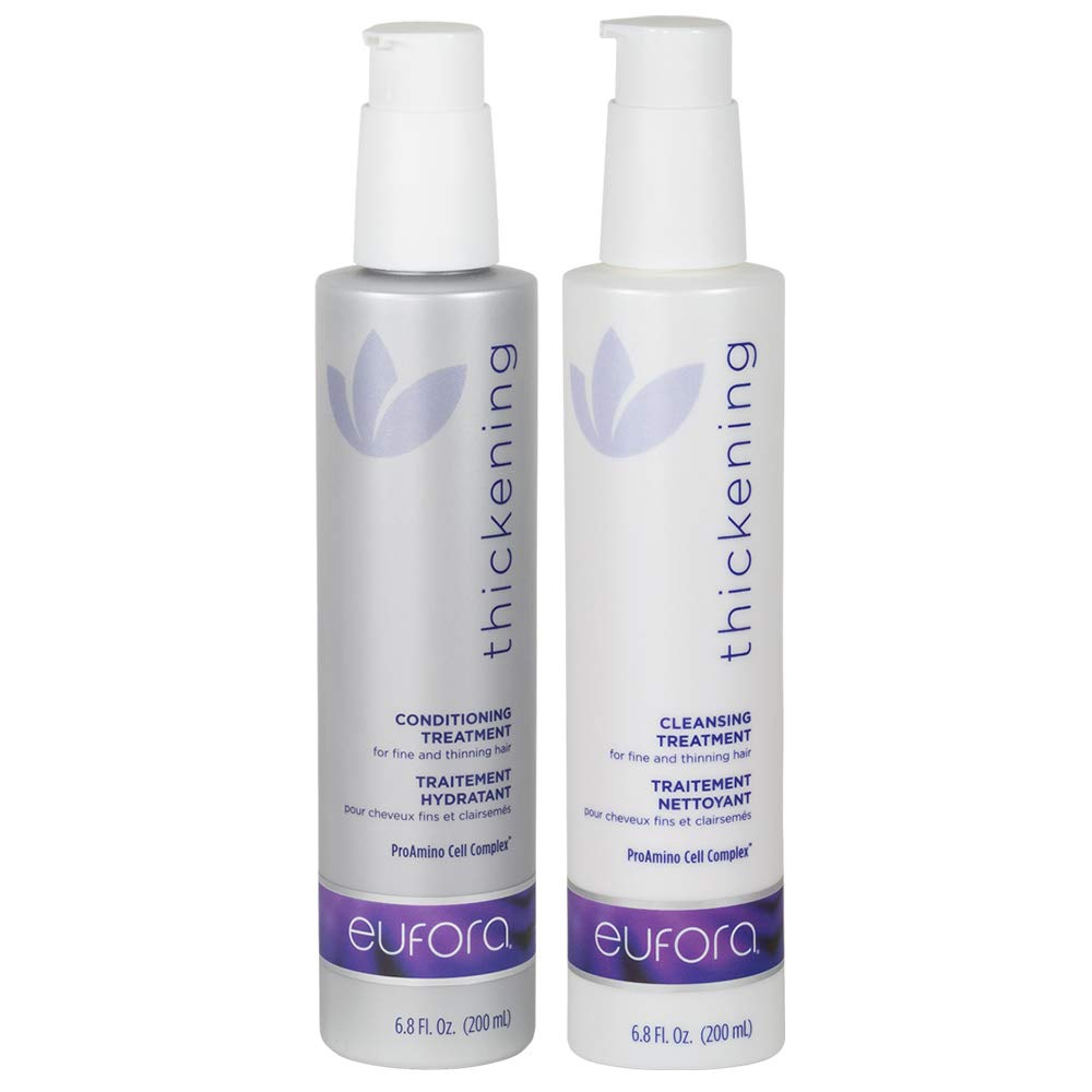 Eufora Thickening Conditioning Treatment 6.8 Oz & Eufora Thickening Cleansing Treatment 6.8 Oz With Beautify Comb by eufora