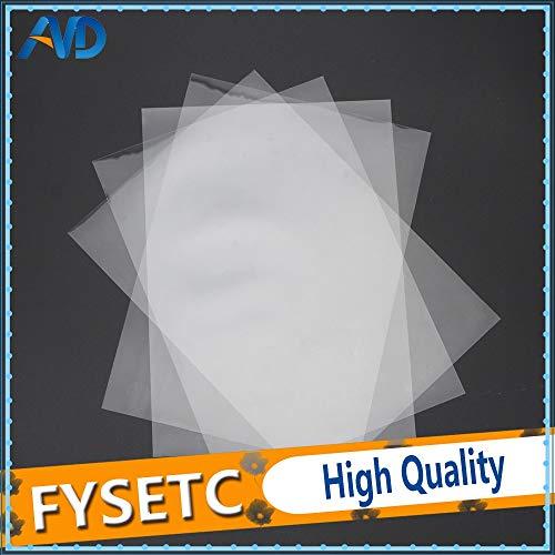3D Printer – 4 Sheets FEP Film 2421470.1mm DLP LCD SLA Resin 3D Printer for Wanhao Duplicator D7, Proniks KLD-LCD1260…