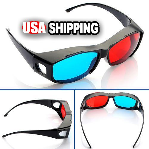 90a168ca98 Galleon - Red-blue   Cyan Anaglyph Simple Style 3d Glasses 3d Movie Game-extra  Upgrade Style (1Pcs With Different Style)