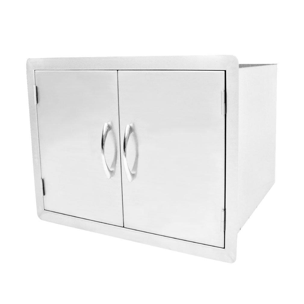 "Outdoor Kitchen Double Door Dry Storage Pantry, 30"", Stainless Steel"