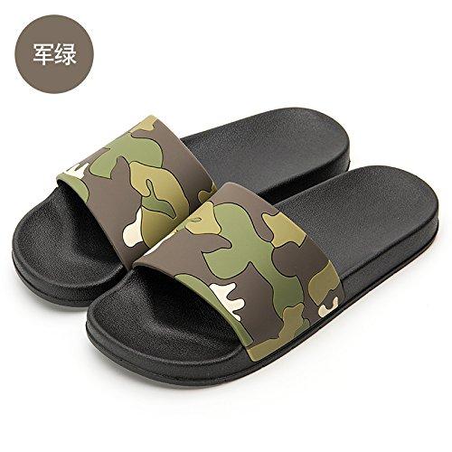 del 39 verde uomini un pantofole per bagno è moda antiscivolo estate scarpe e bagno fankou spiaggia Pantofole estate prendere usura scuro maschio fresco in nqBwAv1