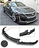 Extreme Online Store for 2016-Present Cadillac CTS-V CTSV   EOS Carbon Package Style Front Bumper Lower Carbon Fiber Lip Splitter