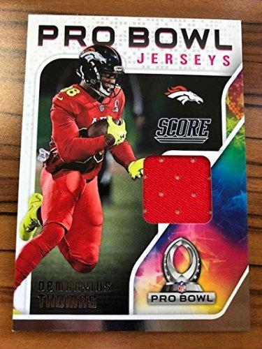 2018 Score Pro Bowl Jerseys #19 Demaryius Thomas Denver Broncos Football Jersey MEM Card from SCORE