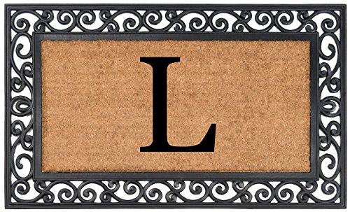 Nance Industries YourOwn Monogrammed Rubber Welcome Mat, 24