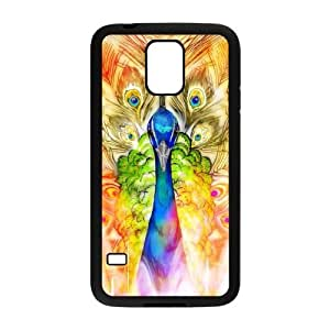 Nymeria 19 Customized Peacock Peafowl Spead Tail Feathers Bird Diy Design For Samsung Galaxy S5 Hard Back Cover Case DE-256