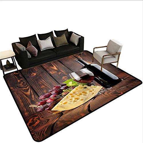 Wine,Dining Table Rugs 64