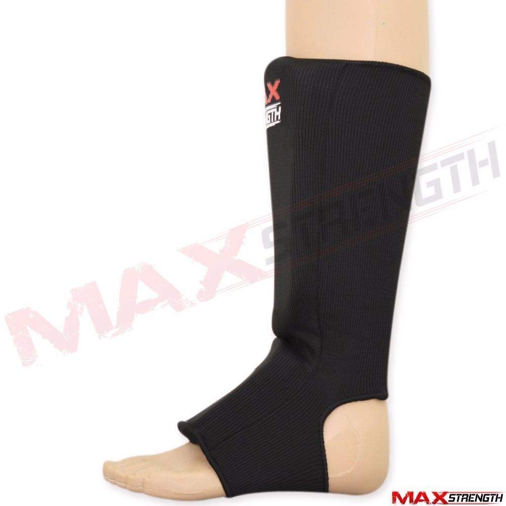 Max Strength Shin Guard Instep Foam Pad Boxing Knee Brace Support Leg Guards MMA Foot Protection Kickboxing