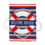Cheap Nautical Welcome Garden Flag